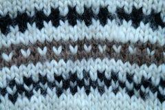 Woolen Kleidung, Muster mit Herzen Stockfotos