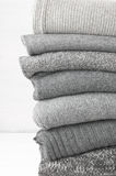 Woolen knitted sweaters Royalty Free Stock Photos