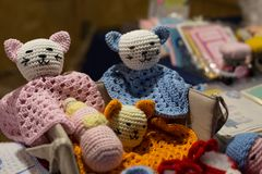 Woolen koty Zdjęcie Royalty Free