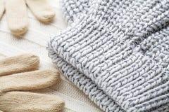 Woolen odzieżowa zima fotografia stock