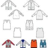 Woolen outfit. Set of woolen garment easily adjustable Stock Photo