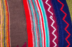Woolen patchwork tekstura Zdjęcie Royalty Free