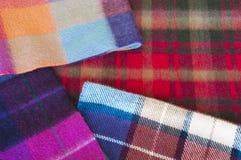 Woolen plaids Royalty Free Stock Photo