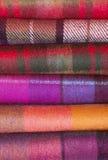 Woolen plaids Stock Images