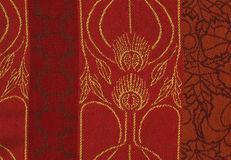 Woolen red texture for background. Stock Image