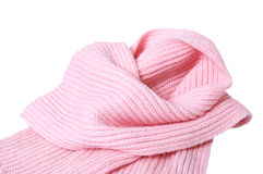 Woolen rosafarbener Schal. Stockbild