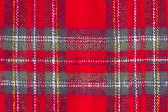 woolen rutig textur Royaltyfri Foto