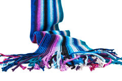 Woolen scarf. A striped multicolored woolen scarf Stock Photo