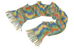 A woolen scarf with fringe. It is a woolen scarf Stock Photography