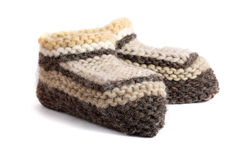 Woolen shoes Stock Image