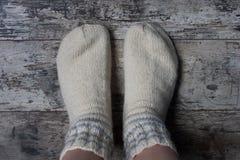 Woolen skarpety Zdjęcia Royalty Free