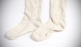 Woolen sockor Arkivbild