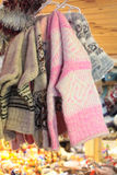 Woolen sockor Royaltyfria Bilder