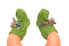 Woolen socks Royalty Free Stock Photography