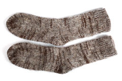 Woolen socks. Isolated on white Royalty Free Stock Photo