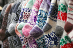 Woolen socks Stock Photography