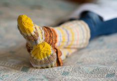 Woolen socks Stock Images