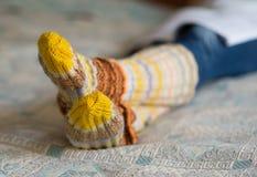 Woolen socks Stock Images