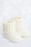 Woolen socks for newborn Stock Photo