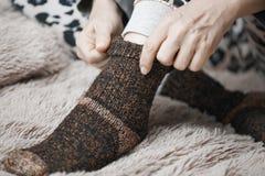 Woolen socks Stock Photography
