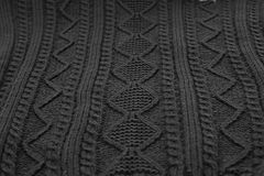 Woolen Sweater Black Background Stock Photos
