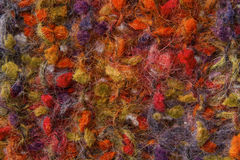 Woolen tekstury tło, dziająca kolor wełny tkanina, multicolor Obraz Stock