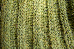 Woolen Texture Background, Knitted Wool Fabric, Green Hairy Fluf Royalty Free Stock Photography