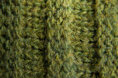 Woolen Texture Background, Knitted Wool Fabric, Green Hairy Fluff stock photo
