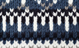 Woolen texture with pattern Royalty Free Stock Photography