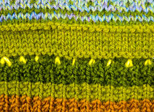 Woolen texture from the threads of many colors. Royalty Free Stock Photography