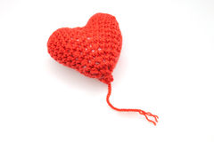 Woolen thread heart Royalty Free Stock Photography