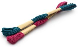Woolen thread. Over white background Royalty Free Stock Photography