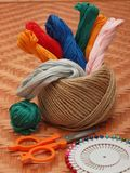 Woolen threads Royalty Free Stock Images