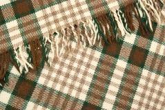 Woolen und braunes überprüftes Plaid Stockbilder