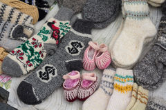 Woolen and warm socks Royalty Free Stock Photography