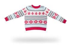 Woolen Weihnachtsstrickjacke Lizenzfreie Stockfotos