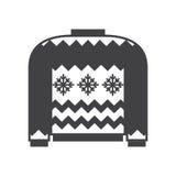 Woolen Winter Sweater. Woolen winter ugly sweater illustration in outline design. Sweatshirt silhouette vector icon Stock Photos