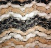 Woolen wyplatająca tkanina Zdjęcia Royalty Free