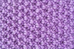 Woolen yarn as texture background, abstract. Purple woolen yarn as texture background, abstract Stock Photos