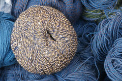 Woolen yarn ball Stock Photo