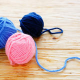 Woolen yarn for knitting Royalty Free Stock Photos