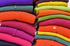 Woolens coloridos de la cachemira y de la alpaca Fotografía de archivo