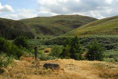 Wooler Common, North Northumberland Royalty Free Stock Photo