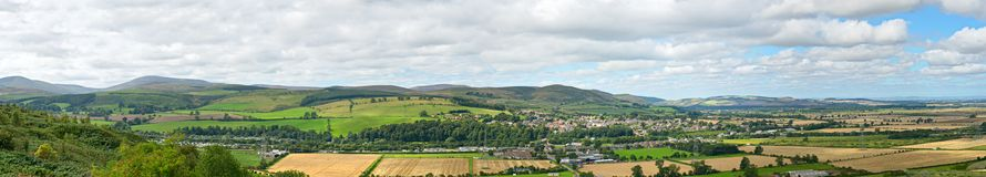 Wooler, Northumberland, England, panorama Royalty Free Stock Image