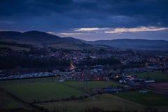 Wooler Town no crepúsculo Imagens de Stock