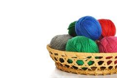 Woollen balls Stock Images