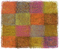Woollen  blanket with colorful weave rectangular elements Royalty Free Stock Photo