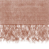 Woollen brown scraft with fringe Royalty Free Stock Photography