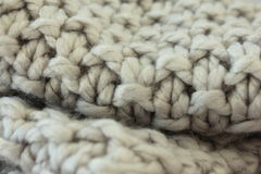Woollen Crochet scarf Royalty Free Stock Photos