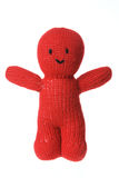 Woollen Doll. On White Background Stock Images
